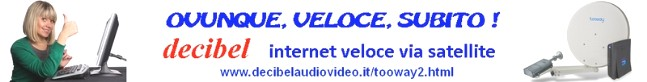 Decibel internet veloce via satellite TOOWAY