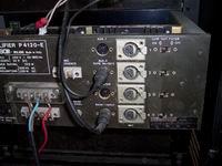 Pannello posteriore amplificatore P4120A prima del restauro