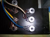 PASO P4121-E - Dettaglio potenziometri sostituiti lato saldature