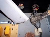 Restauro rack PASO - Fase di rimozione dello sporco